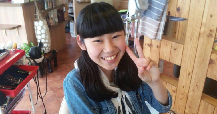 前髪ぱっつん♥